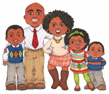 black-family-cliparts